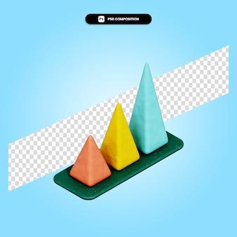 Пирамидальная диаграмма 3d визуализации изолированных иллюстрация