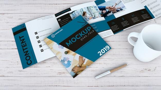 Quadfold brochure mockup