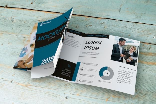 Quadrifold brochure mockup