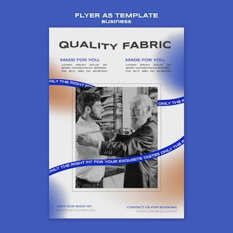 Quality fabric flyer template