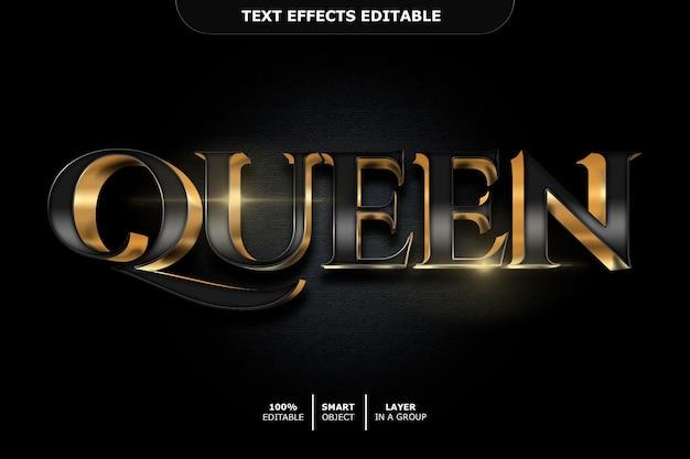 Queen text effect editable