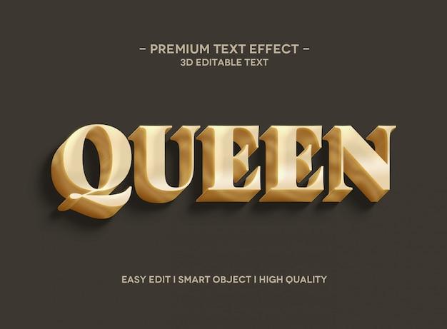 Шаблон стиля текстового эффекта королевы