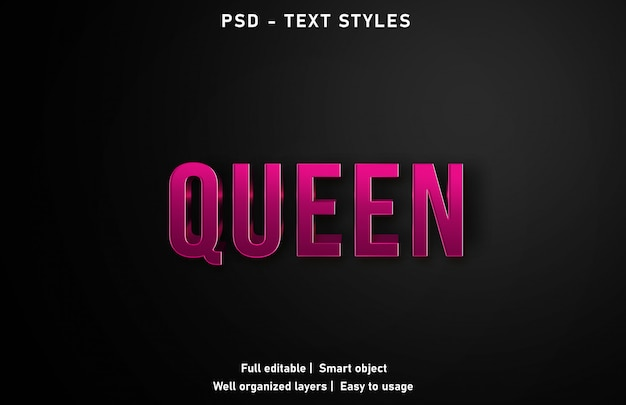 Queen text effect