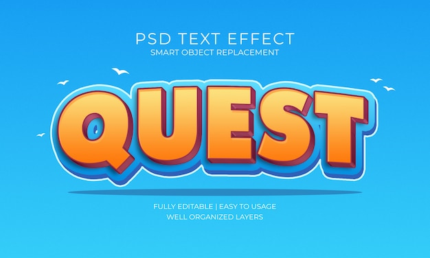 Quest text effect