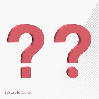 Question mark 3d symbol premium psd