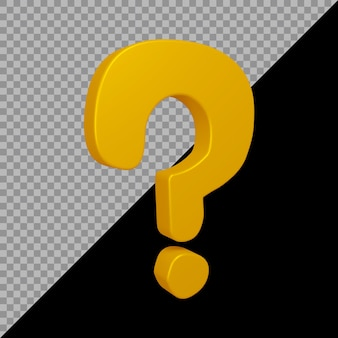Question mark symbol in 3d render