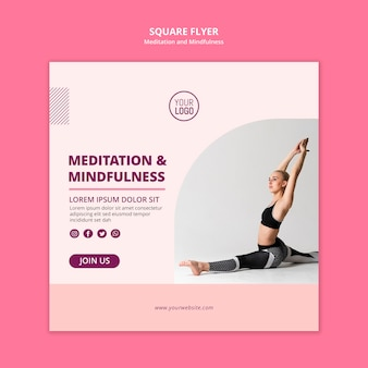 Quiet your mind meditation square poster
