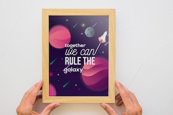 Quote and frame mockup concept