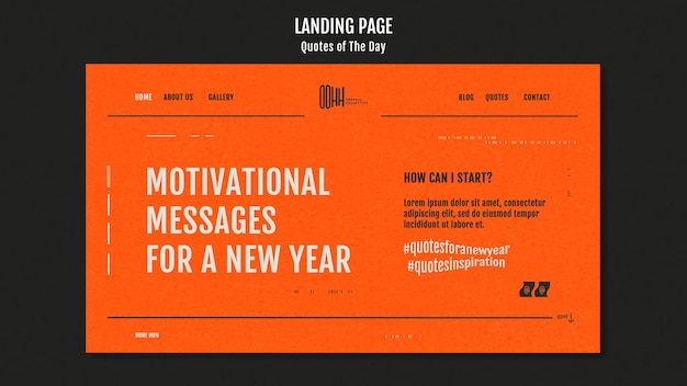 Quote of the day landing page template