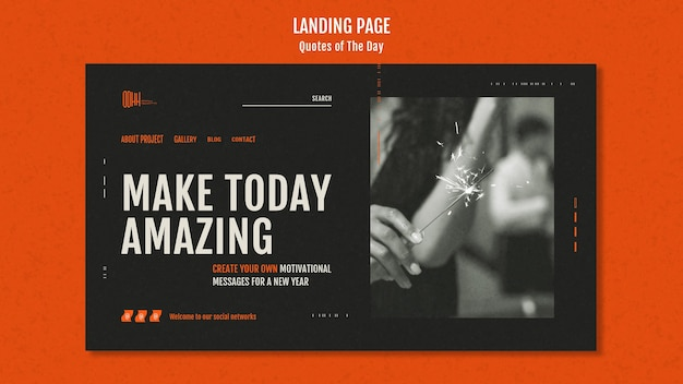 Quote of the day landing page