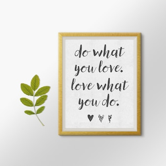 Quote picture frame mock up