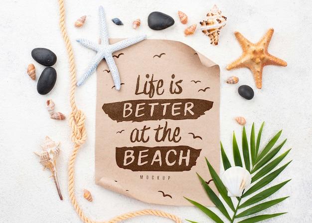 Цитата с летними морскими