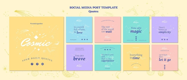 Quotes concept social  media post template