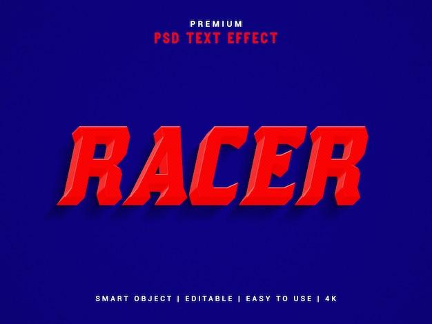 Racer text effect template, psd.