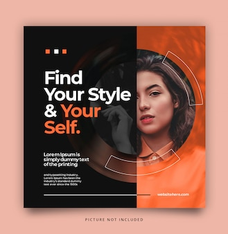 Radial social media instagram facebook post template