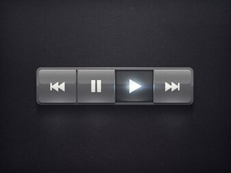 Radio simple and black button psd