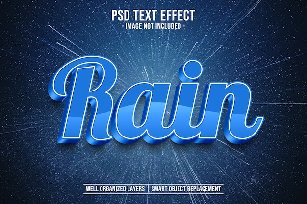 Rain text style effect