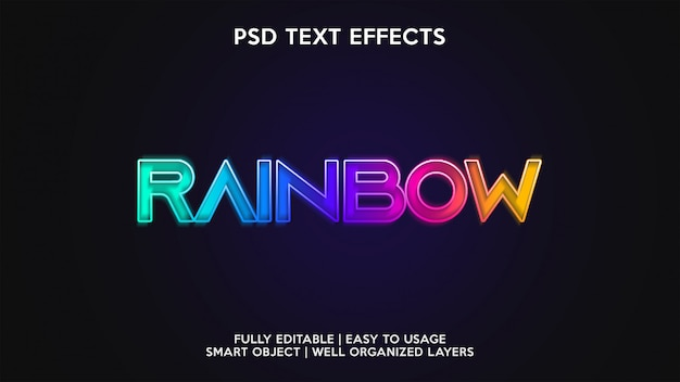 Rainbow text effects