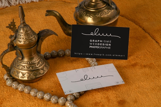 Ramadan business card mockup