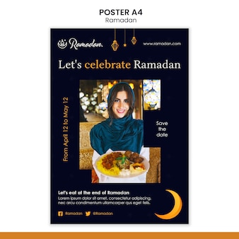 Ramadan event flyer template