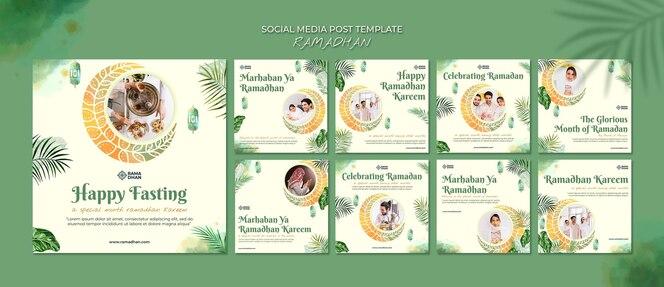 Modello di post di instagram per eventi di ramadan