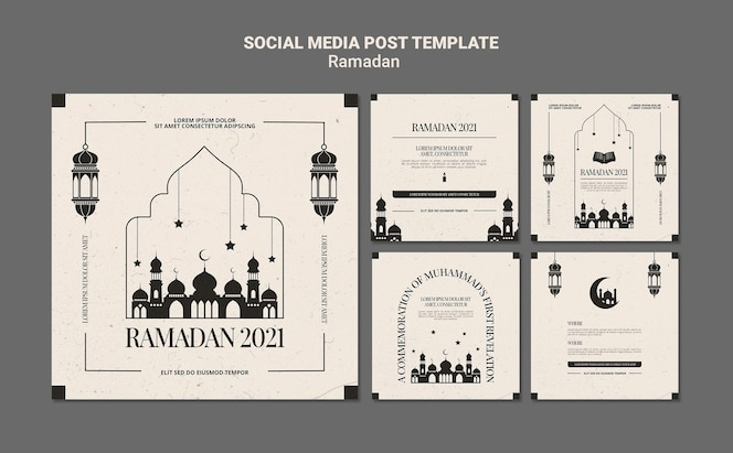 Ramadan event instagram posts template