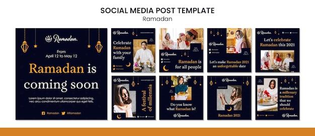 Ramadan event instagram posts template