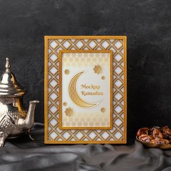 Рамадан исламский макет рамки