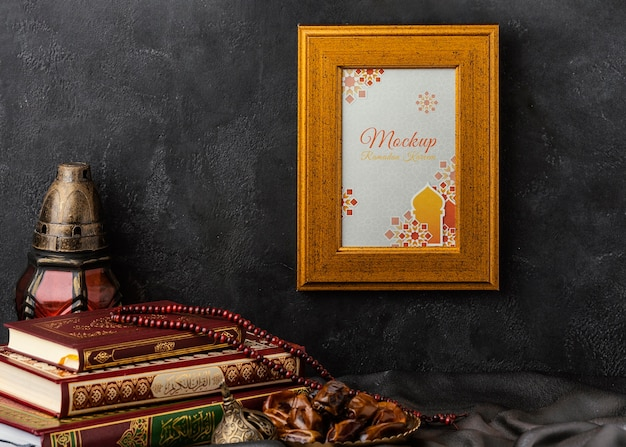 Cornice dorata islamica del ramadan
