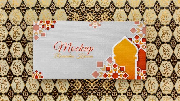 Mockup di stampa islamica del ramadan