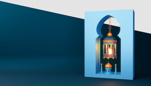 Ramadan kareem background, 3d rendering.