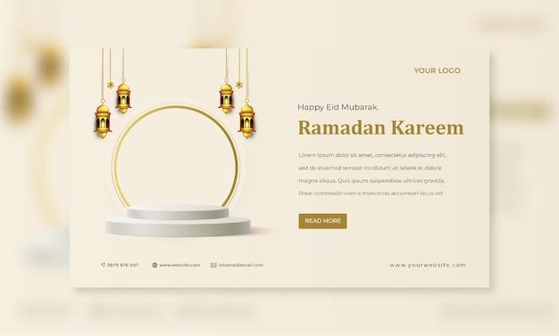 Ramadan kareem card mockup