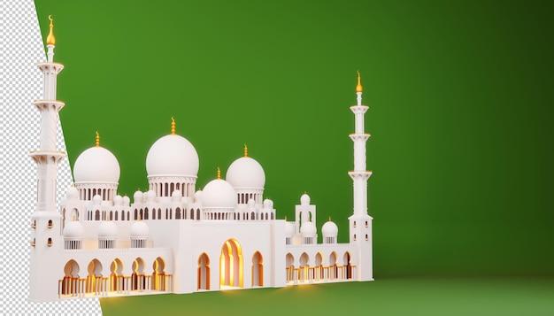Рамадан карим дизайн в 3d-рендеринге