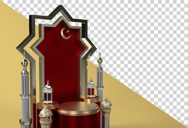 Ramadan kareem and eid al fitr mubarak islamic celebartion design
