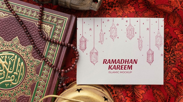 Mockup islamico di ramadan kareem sopra la vista