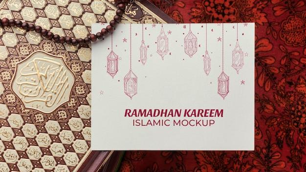 Mockup islamico di ramadan kareem