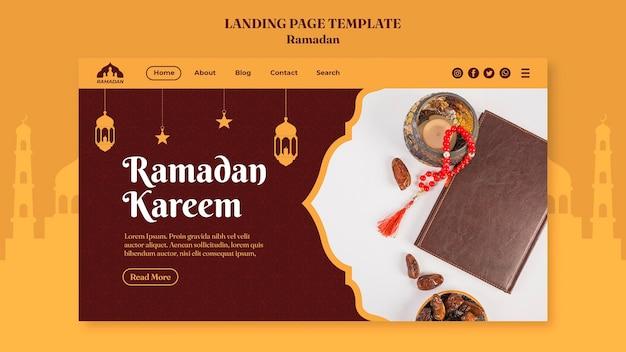 Ramadan kareem landing page template