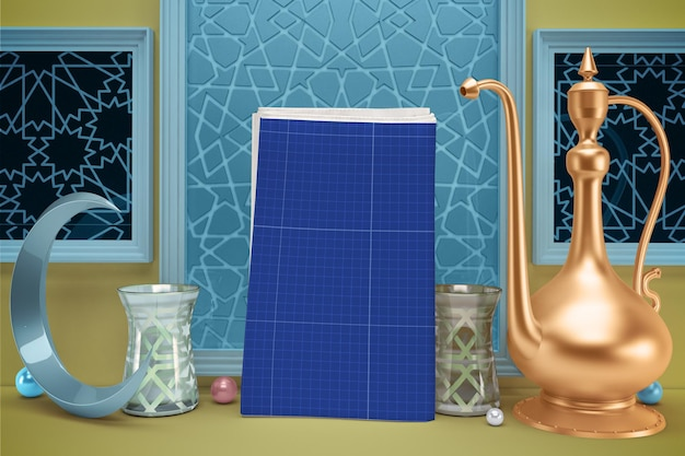 Ramadan newspaper mockup Premium Psd