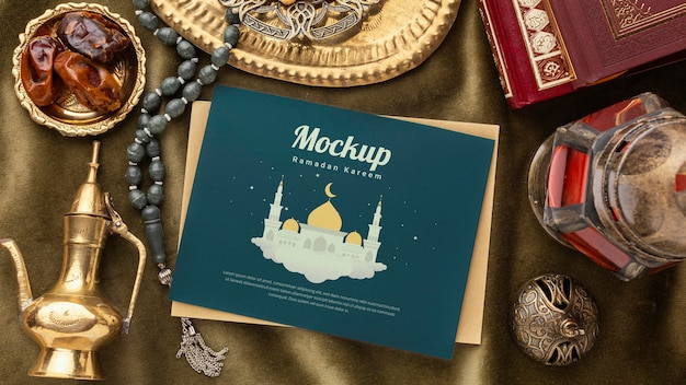 Mockup di stampa e libri del ramadan