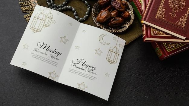 Ramadan printmockup and books