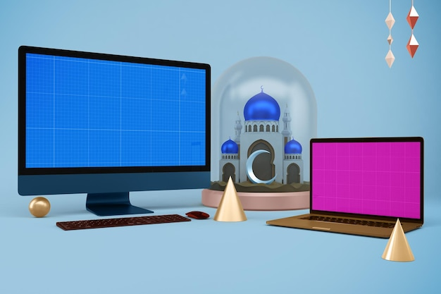 Рамадан мокап адаптивных устройств