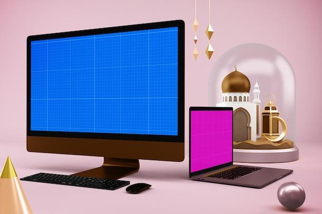 Ramadan responsive devices mockup