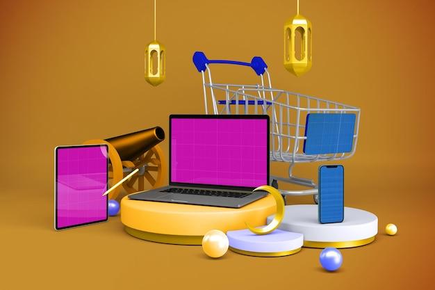 Ramadan responsive shopping mockup