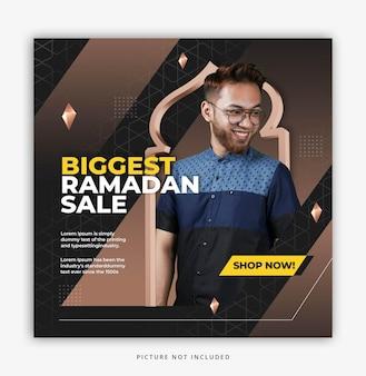 Vendita di ramadan, modello di post sui social media