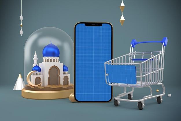 Ramadan shopping app mockup