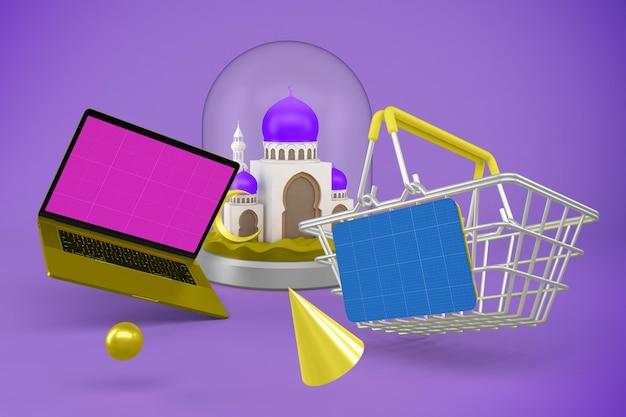 Макет приложения для шоппинга на рамадан