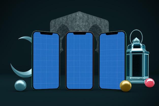 Ramadan smart phone design mockup
