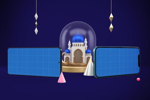 Ramadan smart phones design mockup