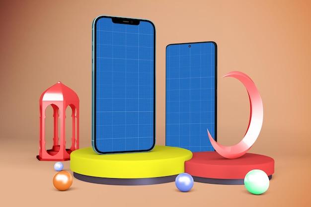 Ramadan smartphones mockup