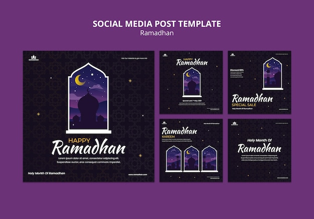 Ramadan social media posts template